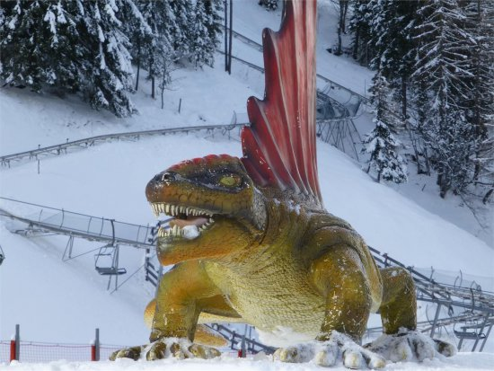Dino Fun Line im Ahrntal in Südtirol im WInter
